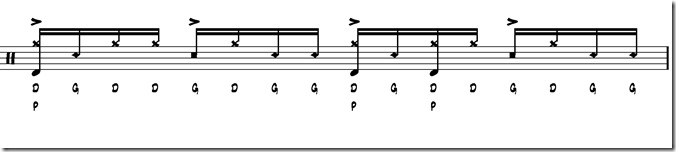 rythme simple paradiddle 4
