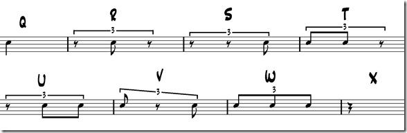 alphabet rythmique ternaire benny greb