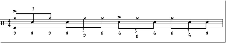 double paradiddle rythme 1