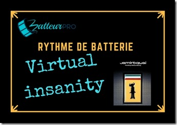 Virtual insanity jamiroquai batterie