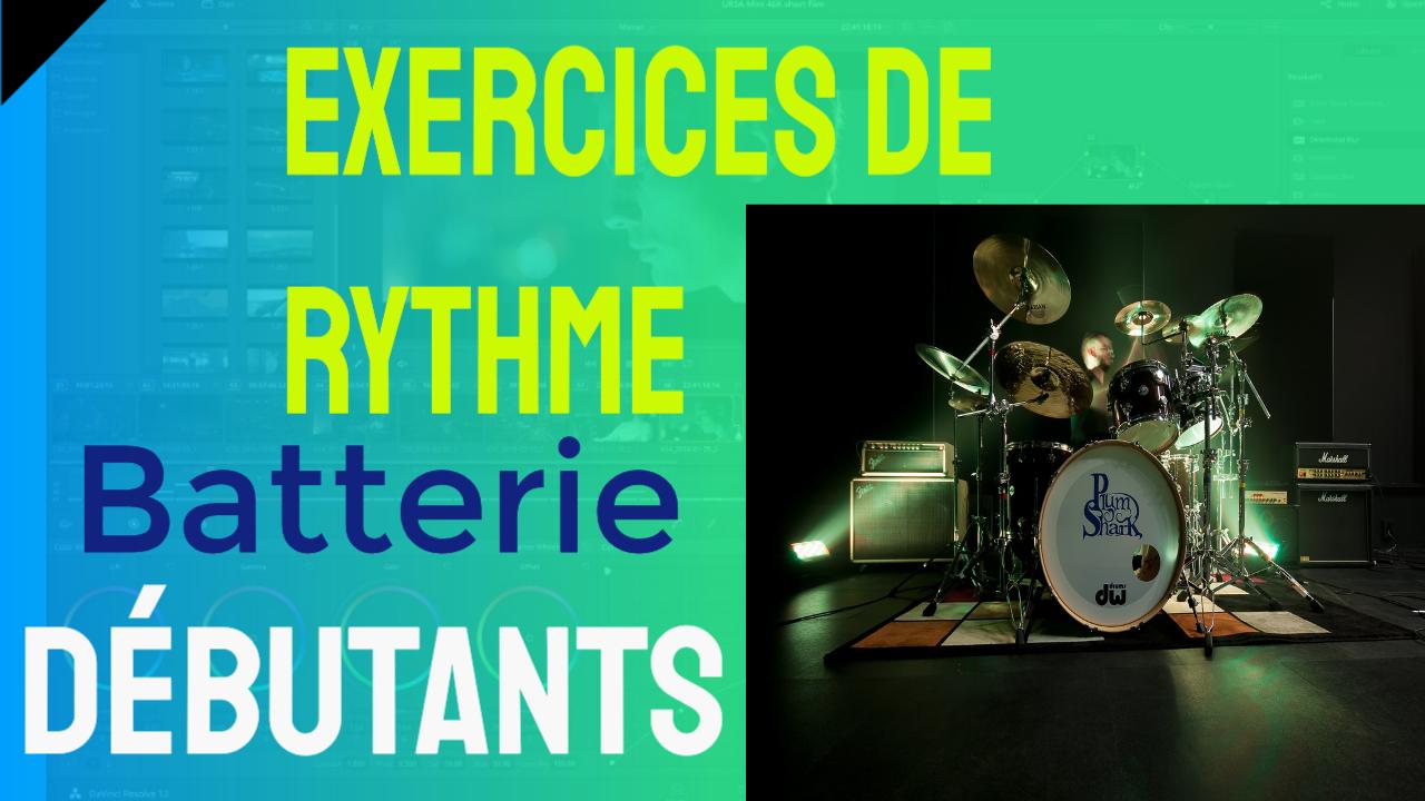 exercices de batterie pour débutants